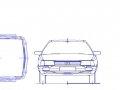 схема выполнения фотосъемки поврежденной левой передней двери